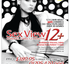 A4 magazine advert for SexView Adult late night adult channel