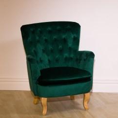Velvet Chair Design Covers Belfast Furniture Republique Louisiana Tufted Emerald
