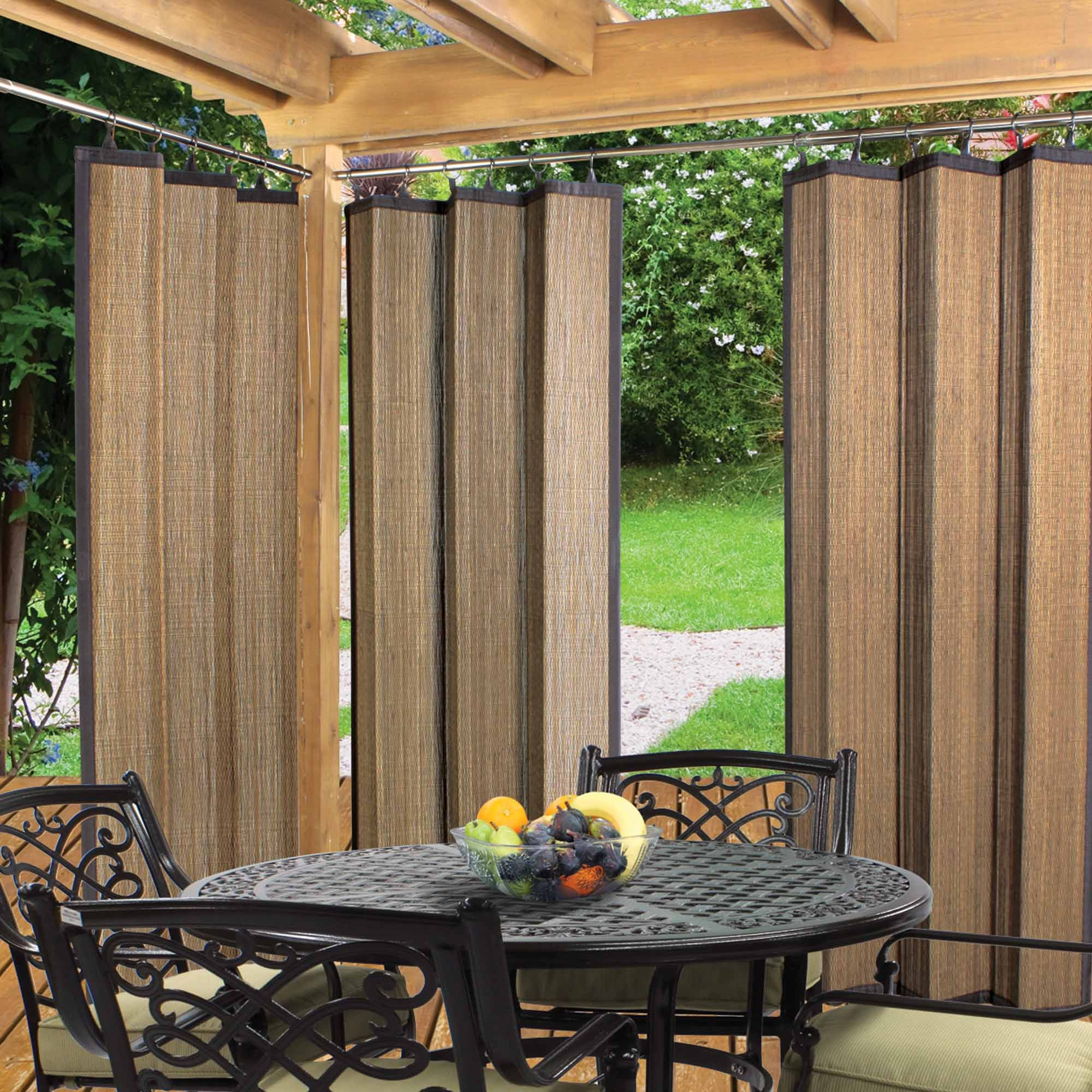 Try Unique Bamboo Curtain Panels For Home Decor Drapery