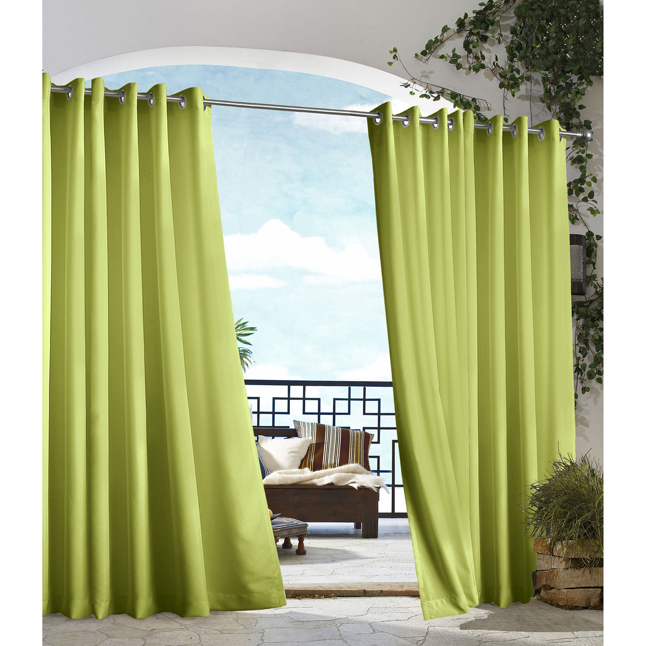 Outdoor Curtains Outdoor Drapes Outdoor Patio Curtains  Green