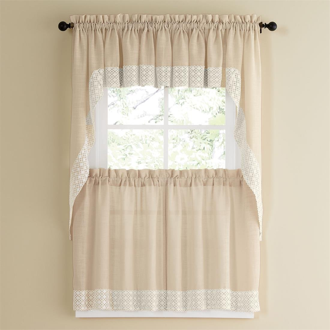 Salem French Vanilla Tier Curtain