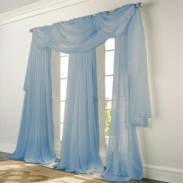 Elegance Voile BLUE Sheer Curtain