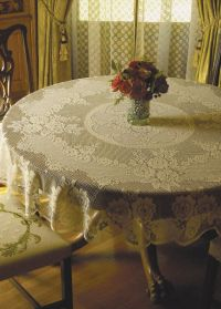 Victorian Rose Table Linens by Heritage Lace: BedBathHome.Com
