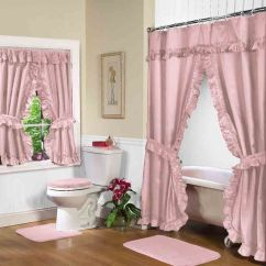 Grey Christmas Chair Covers White Dining Table Chairs Uk Rose Pink Double Swag Shower Curtain