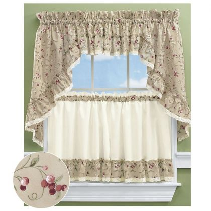 kitchen curtain cabinets direct curtains tier altmeyer s bedbathhome cherries ruffled