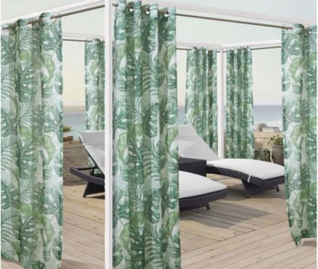 Banana Leaf Grommet Top Outdoor Curtain Panel