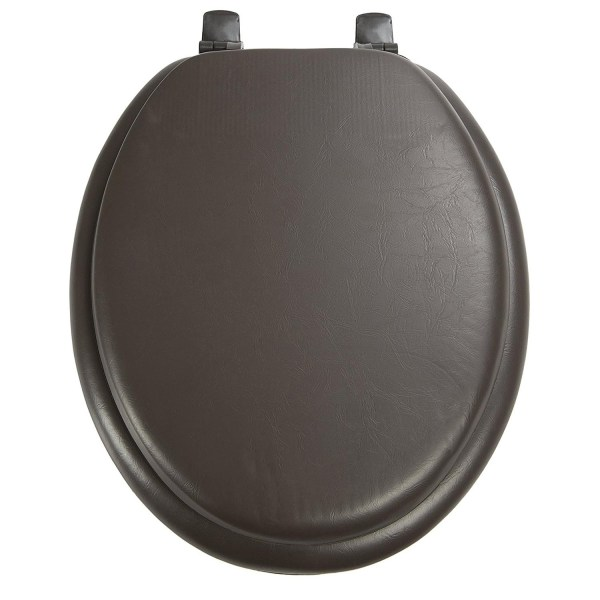 Ginsey Solid Chocolate Brown Padded Elongated Seat