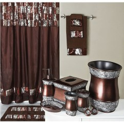 Beach Chair Bathroom Accessories And 1 2 Elite Sequined Bronze Shower Curtain Bath Accessories: Bedbathhome.com