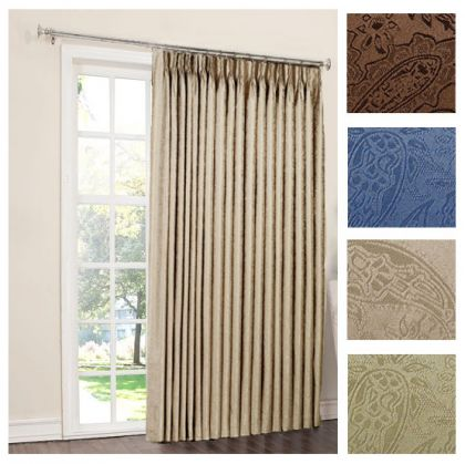 Superior One Way Draw Patio Curtain Thermal Patio Door Curtain