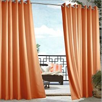 Outdoor Curtains - Orange Solid Outdoor Curtains ...