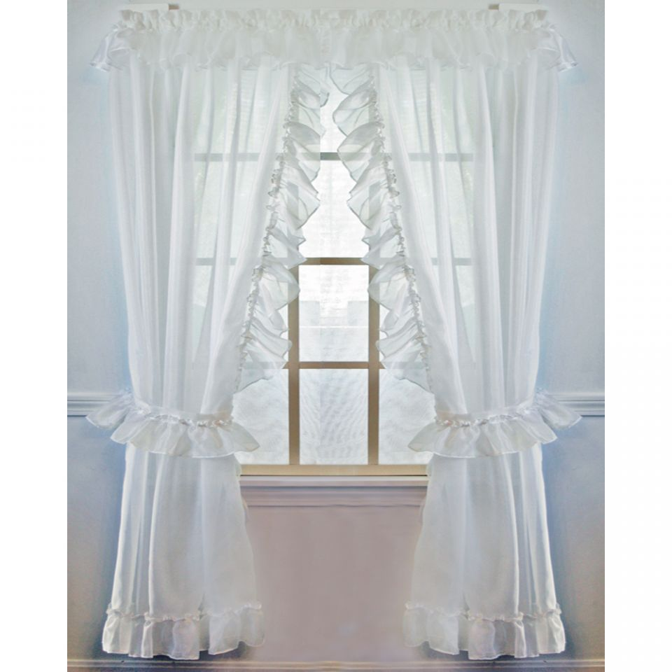 christmas chair covers white wooden camp plans jessica sheer ruffled priscilla curtain