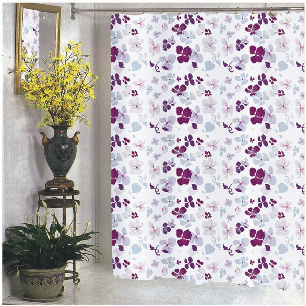 extra wide 108 inch x 72 inch floral fabric shower curtain