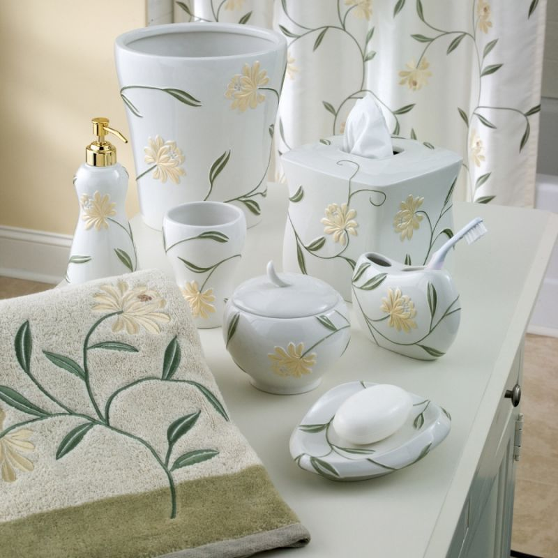 Penelope Shower Curtain and Bath Accessories by Croscill