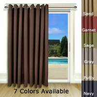 Ultimate Blackout Patio Door Curtain Panel with Detachable ...