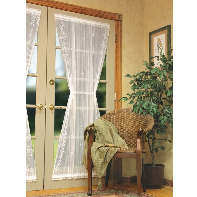 Heritage Lace Sheer Divine Lace Door Panel Curtain BedBathHome Com