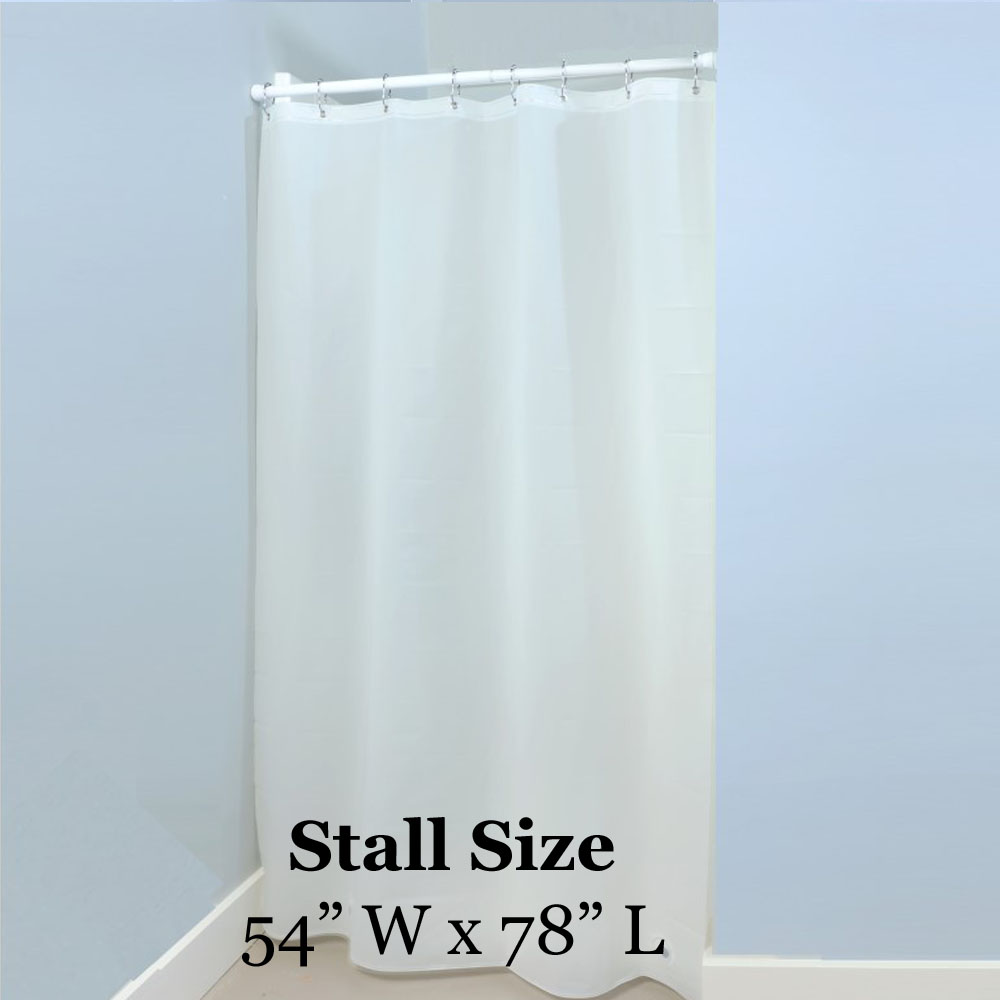 white heavy duty shower stall liner 54in x 78in