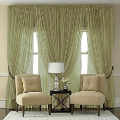 Green Garden Chair Covers Kids Office Splendor Semi Sheer Batiste Rod Pocket Panel In Olive