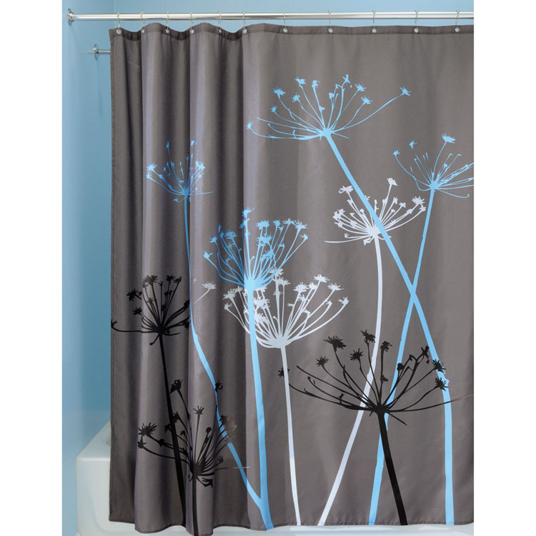 modern art chair covers and linens adirondack interdesign thistle blue grey fabric shower curtain   altmeyer's bedbathhome
