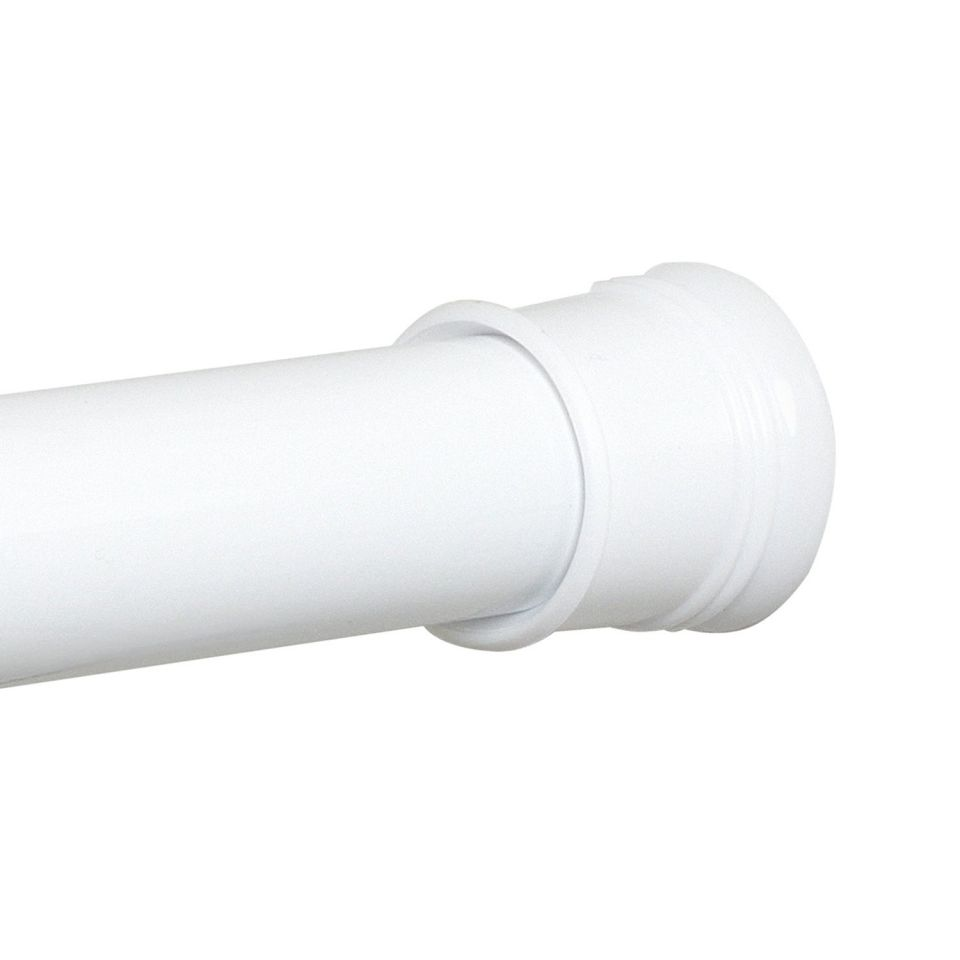 zenith twist tight shower curtain rod in white adjustable to 72 inches