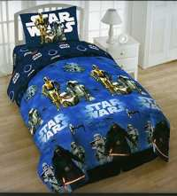 Star Wars Twin 4 Piece Bedding Set with Tote - Reversible ...