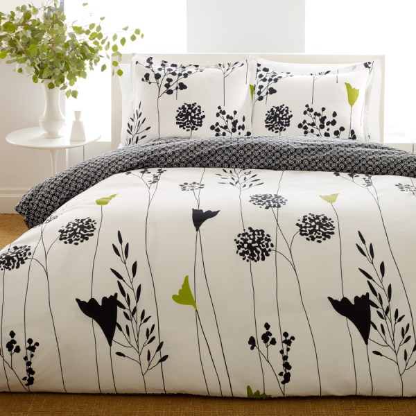Perry Ellis Asian Lilly Black Bedding Collection