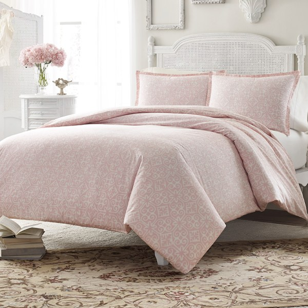 Stone Cottage Ava Soft Dusty Pink Comforter And Duvet Set