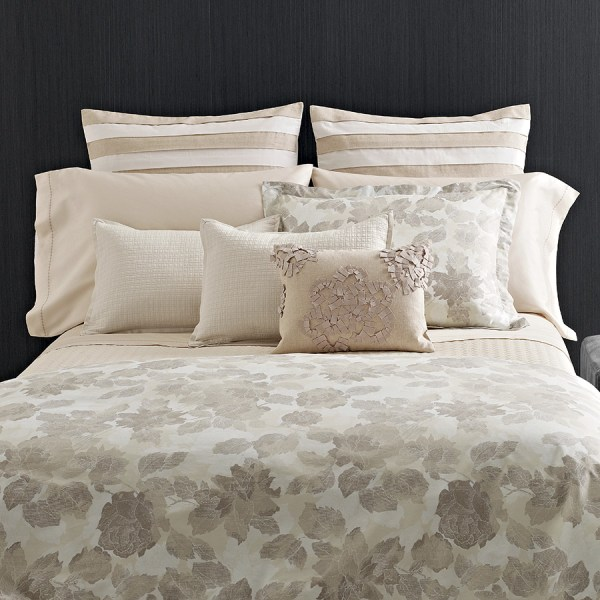 Vera Wang Etched Roses Duvet Cover Set