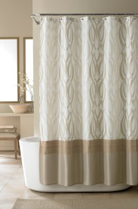 Nicole Miller Golden Rule Shower Curtain from Beddingstyle