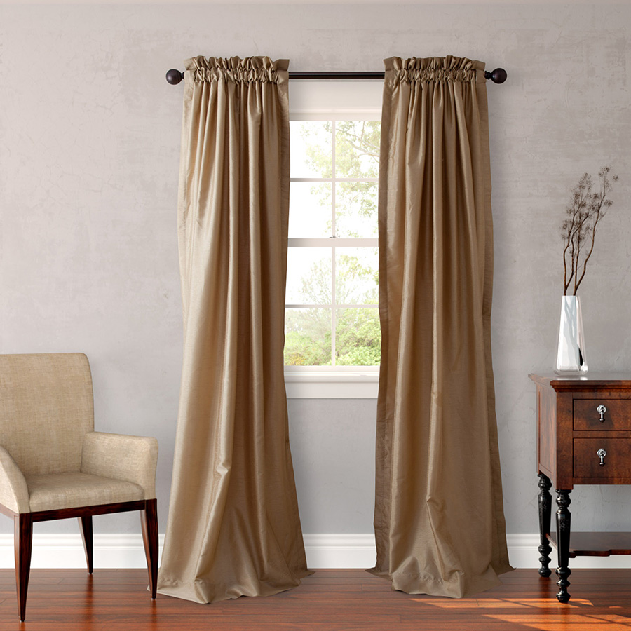 Heritage Landing Gold Window Drapes From