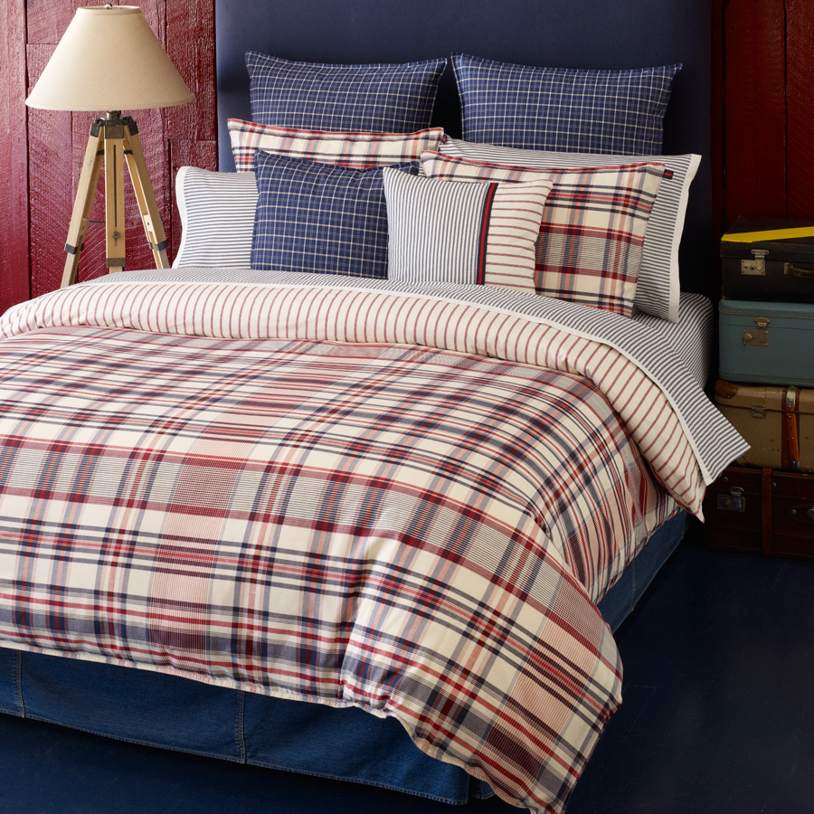 Tommy Hilfiger Vintage Plaid Bedding Collection from
