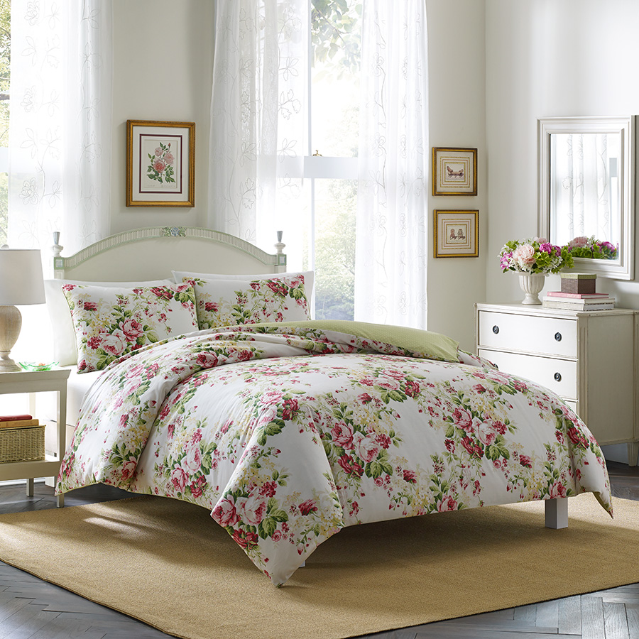 Laura Ashley Joyce Pink Comforter And Duvet Set From