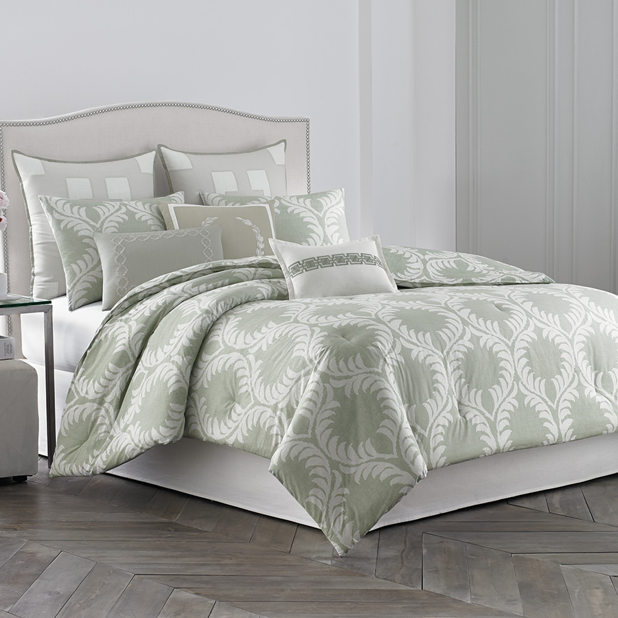 Wedgwood Laurel Leaves Comforter Set from Beddingstylecom