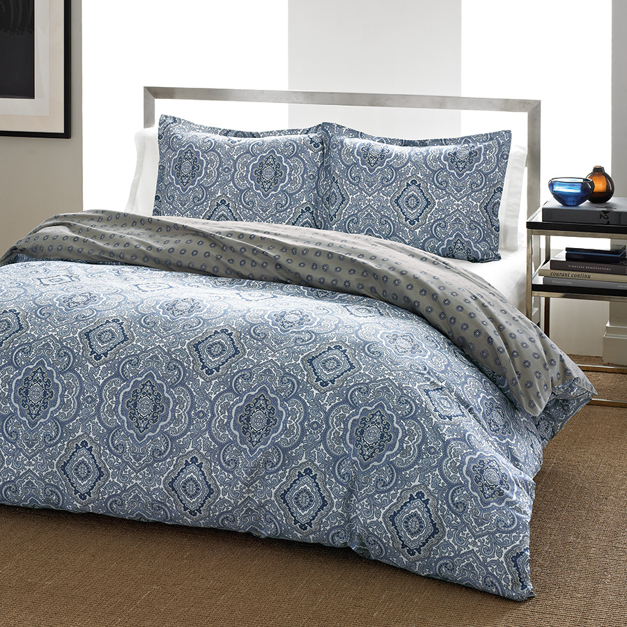 King Comforter Set (City Scene Milan Blue)