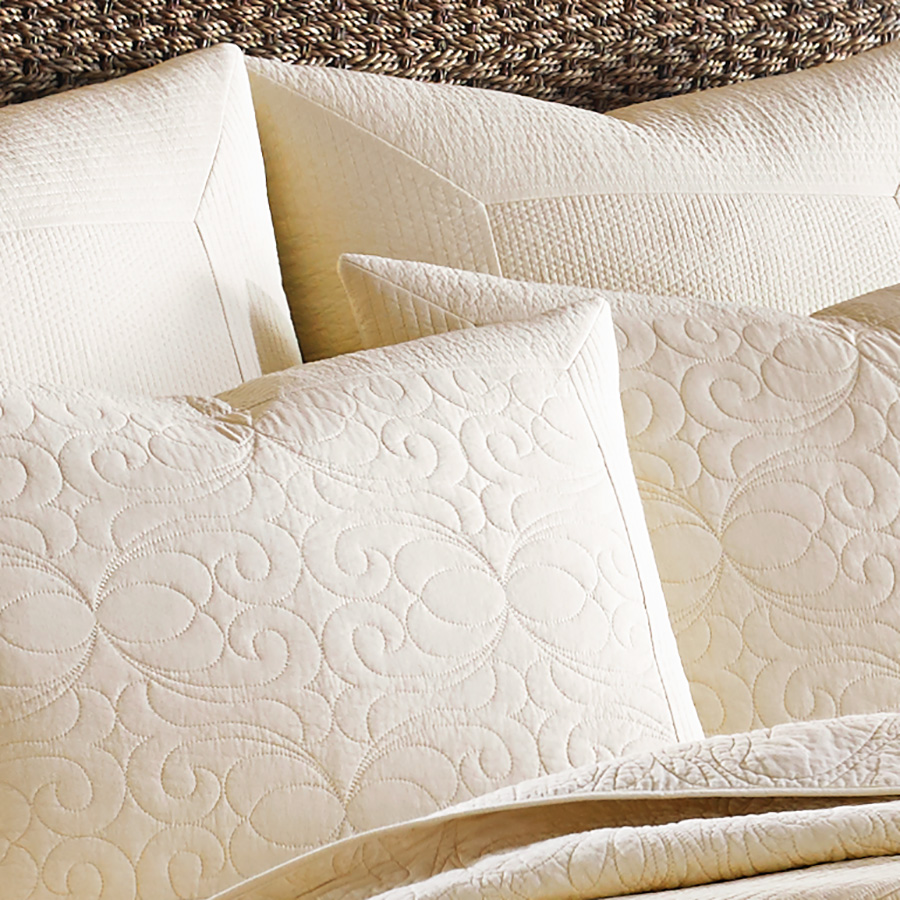 Tommy Bahama Nassau Ivory Quilt Set from Beddingstylecom