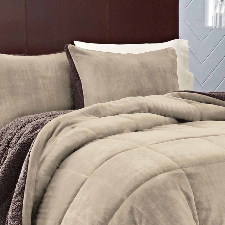 Eddie Bauer Premium Fleece Khaki Comforter Set from