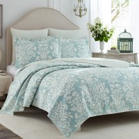 Laura Ashley Rowland Blue Quilt Set from Beddingstyle.com