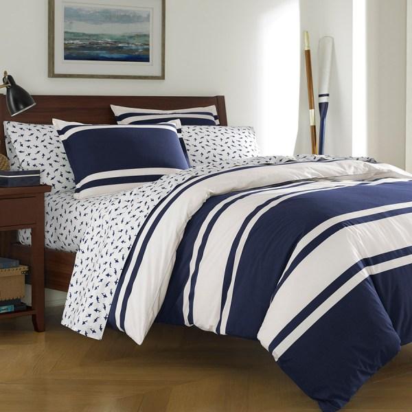 Poppy & Fritz Rylan Rugby Stripe Comforter Duvet Set