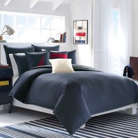 Nautica Seaward Twill Solid Navy Comforter Set from
