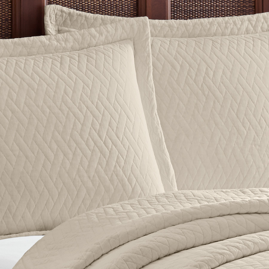Tommy Bahama Solid Dune Quilt Set from Beddingstlyecom