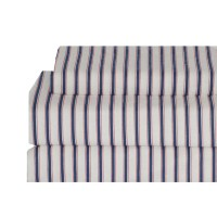Tommy Hilfiger Ticking Stripe Flannel Sheet Set from ...