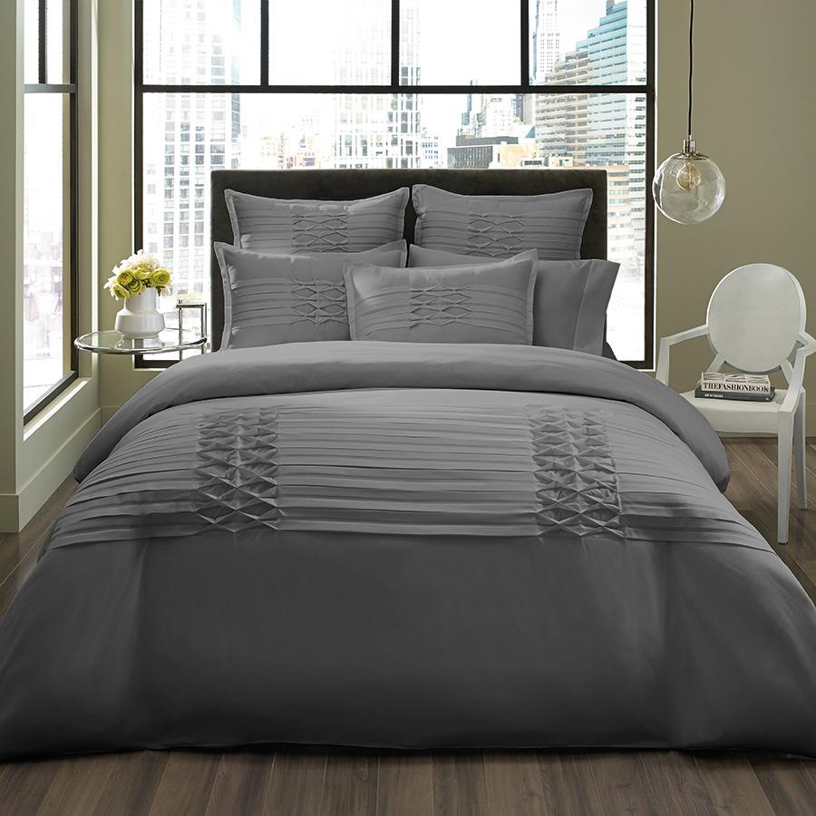 City Scene Triple Diamond Gray Duvet Set From Beddingstyle Com