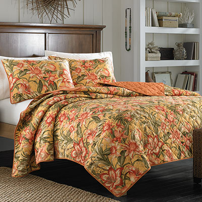 Tommy Bahama Tropical Lily Quilt from Beddingstyle.com