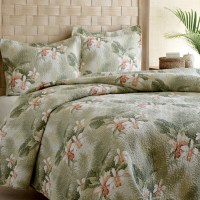 Tommy Bahama Tropical Orchid Quilt Set from Beddingstyle.com