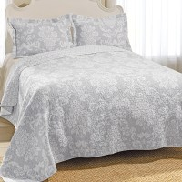 Laura Ashley Venetia Gray Quilt Set from Beddingstyle.com