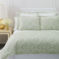 AERIN WATERCOLOR DAMASK DUVET COVER FROM BEDDINGSTYLE.COM