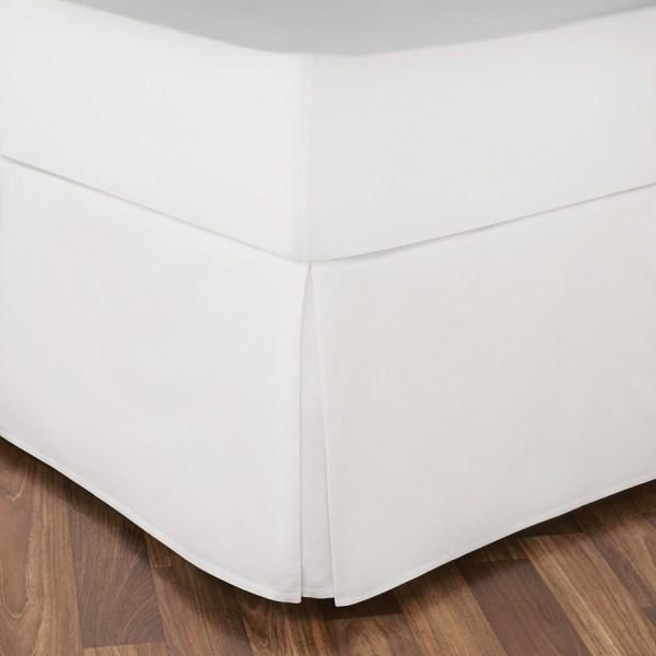 Vera Wang Woven White Bedskirt