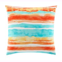 """Tommy Bahama Watercolor Stripe 20"""" Square Pillow from ..."""