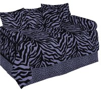 Zebra Purple Daybed Set by Karen Maki - BeddingSuperStore.com