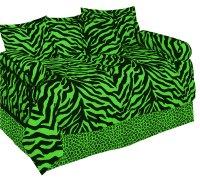 Zebra Green Daybed Set by Karin Maki - BeddingSuperStore.com