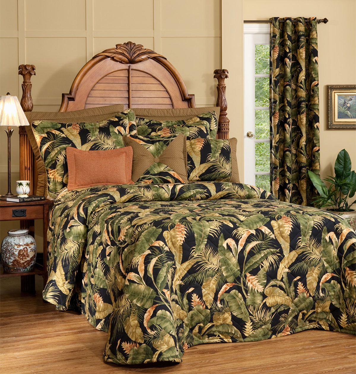 La Selva Black Bedspread by Thomasville Home